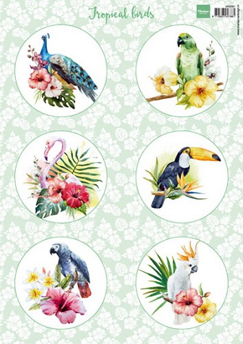Marianne Design - Knipvel - Tropical birds