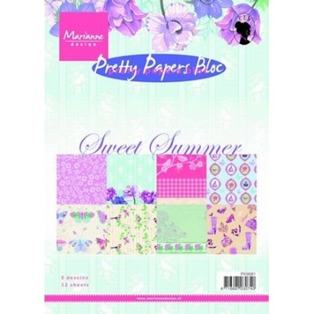 Marianne Design - Pretty Papers Bloc - Sweet summer