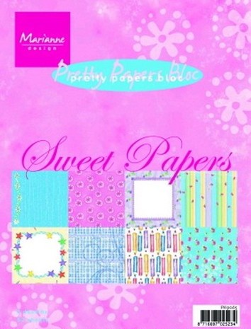 Marianne Design - Pretty Papers Bloc - Sweet papers