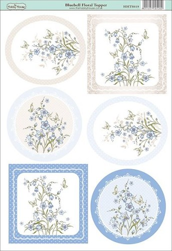 The Hobby House - Floral Topper - Stansvel - Bluebell