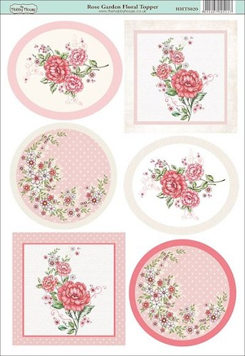 The Hobby House - Floral Topper - Stansvel - Rose Garden