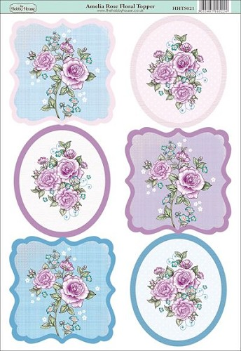The Hobby House - Floral Topper - Stansvel - Amelia Rose