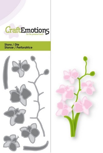 CraftEmotions - Dies - Orchidee