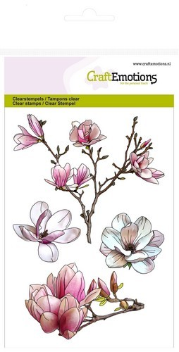 CraftEmotions - Clearstamp - Magnolia Spring Time