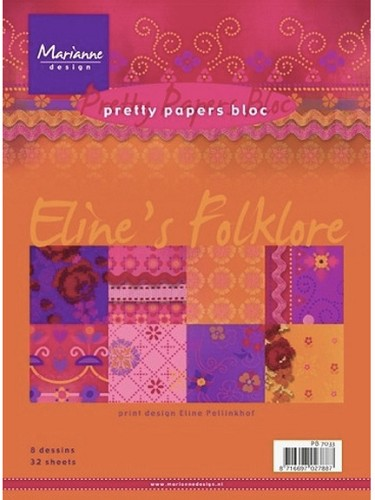 Marianne Design - Pretty Papers Bloc - Folklore