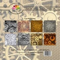Dixi Craft - Paperpack - Gears background