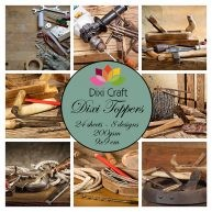 Dixi Craft - Toppers - Wood cutting