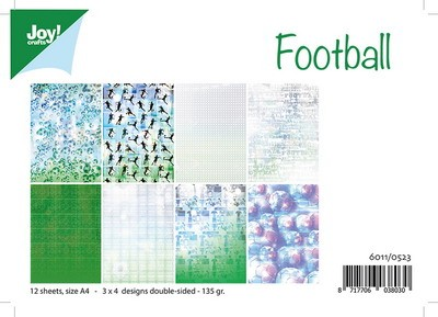 Joy!Crafts - Papierset - voetbal A4