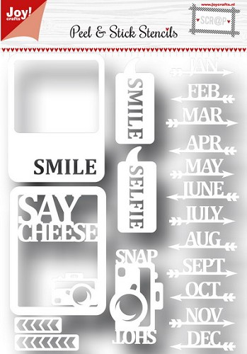 Joy!Crafts - Scrap stencil - Say cheese