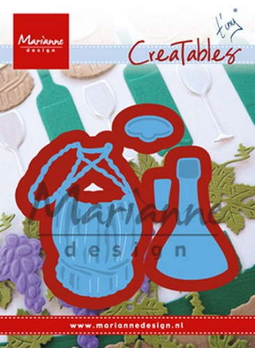Marianne Design - Die - Creatables - Tiny`s Italian wine bottle