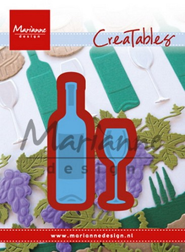 Marianne Design - Die - Creatables - Wine bottle & glass