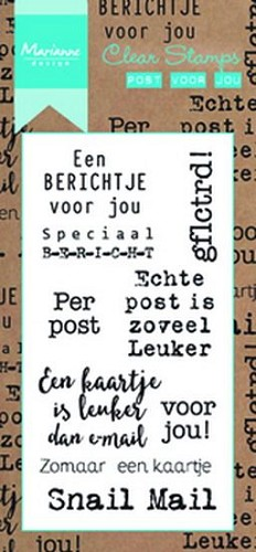 Marianne Design - Clear stamp - Post voor jou