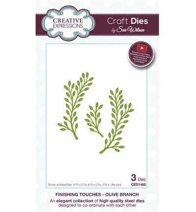 Creative Expressions - Craft Dies - Finishing Touches - Olive Branch