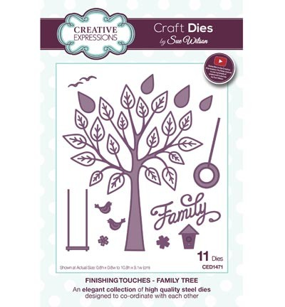 Creative Expressions - Craft Dies - Finishing Touches - Family Tree