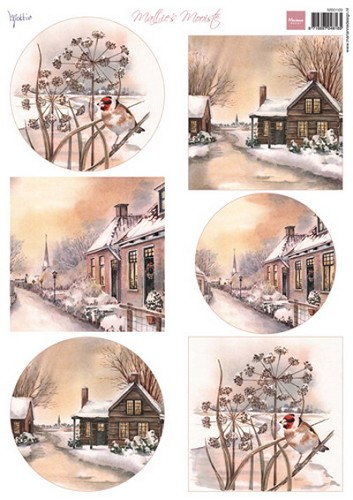 Marianne Design - Knipvel - Mattie`s mooiste winter villages