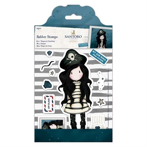 DoCrafts - Rubber Stamps - Santoro - Gorjuss - Piracy