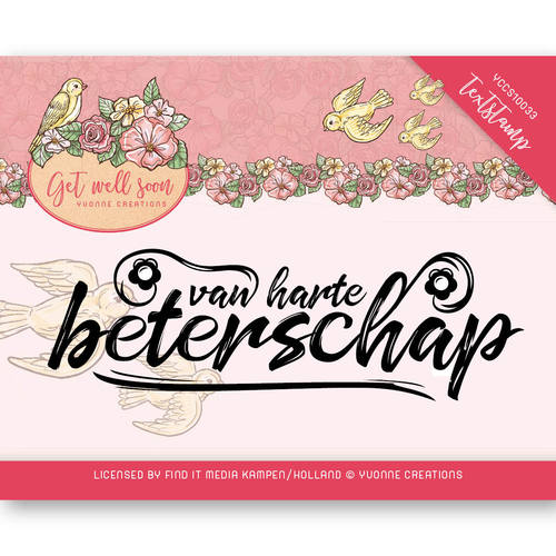 Yvonne Creations - Clearstamp - Get well Soon - Tekst