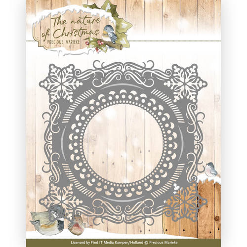 Precious Marieke - Die - The nature of Christmas - Christmas Snowflake Frame