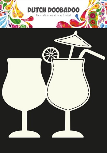 Dutch Doobadoo - Dutch Shape Art - Cocktail A4