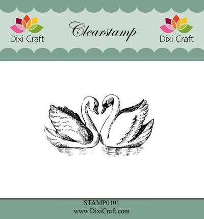 Dixi Craft - Clearstamp - Swans
