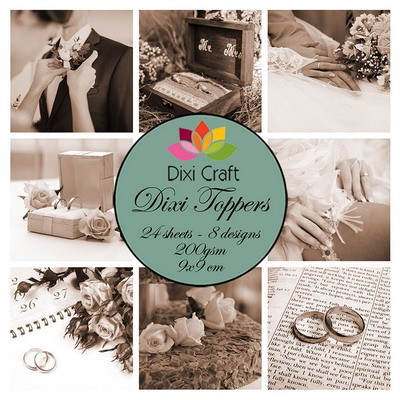 Dixi Craft - Toppers - Wedding Sepia