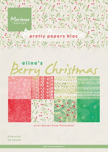 Marianne Design - Pretty papers - Berry Christmas