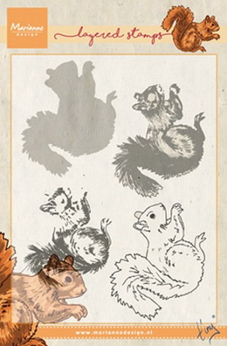 Marianne Design - Clearstamp - Tiny`s squirrel