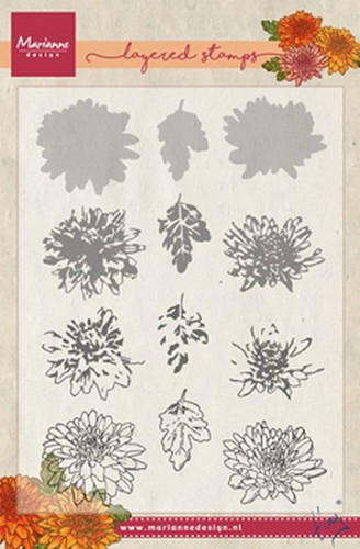 Marianne Design - Clearstamp - Tiny`s chrysant