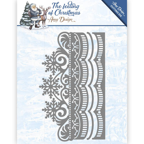Amy Design - Die - The feeling of Christmas - Ice crystal border