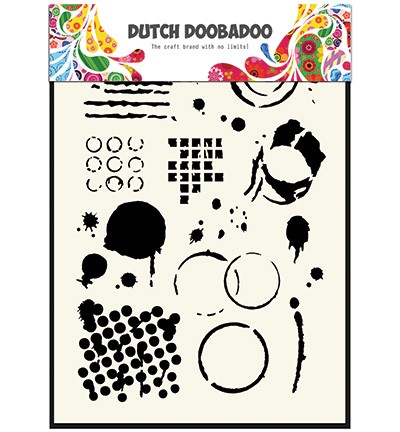 Dutch Doobadoo - Mask Art - Geometric Tiles A5