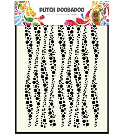Dutch Doobadoo - Mask Art - Wavy stripes A5