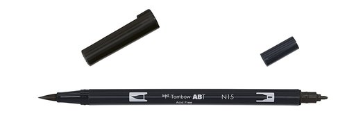 Tombow - Dual Brush Pen - black
