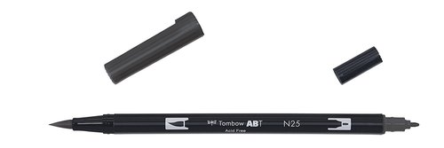 Tombow - Dual Brush Pen - lamp black