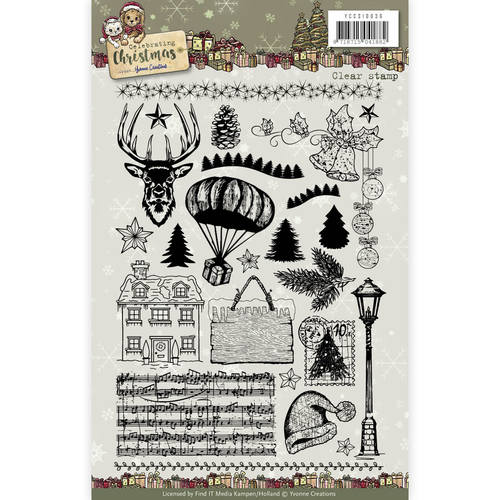 Yvonne Creations - Clear Stamp - Celebrating Christmas