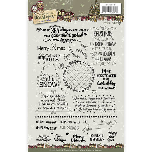 Yvonne Creations - Clear Stamp - Celebrating Christmas Text