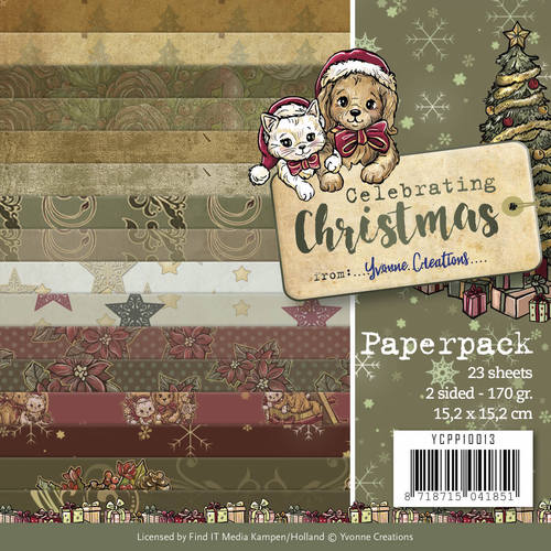 Yvonne Creations - Paperpack - Celebrating Christmas