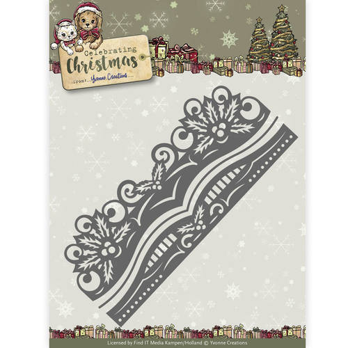 Yvonne Creations - Die - Celebrating Christmas- Holly Border