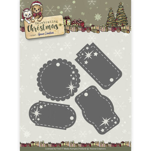Yvonne Creations -Die - Celebrating Christmas- Star Tags