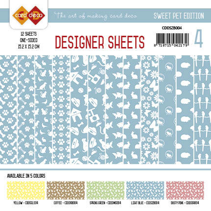 Amy Design - Designer Sheets - Sweet Pet- Zachtblauw
