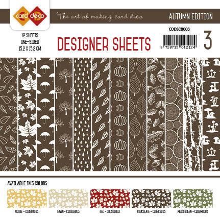 Yvonne Creations - Designer Sheets - Autumn Colors-Chocoladebruin