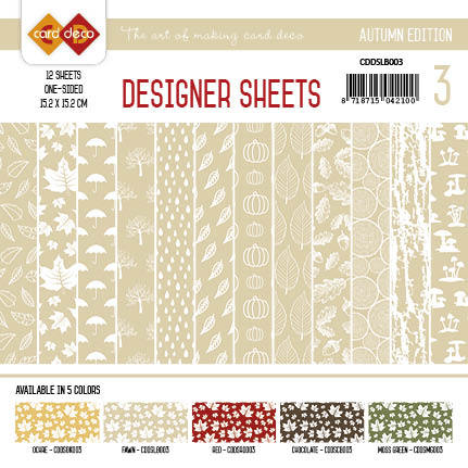 Yvonne Creations - Designer Sheets - Autumn Colors-lichtbruin