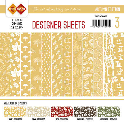 Yvonne Creations - Designer Sheets - Autumn Colors-Oker-