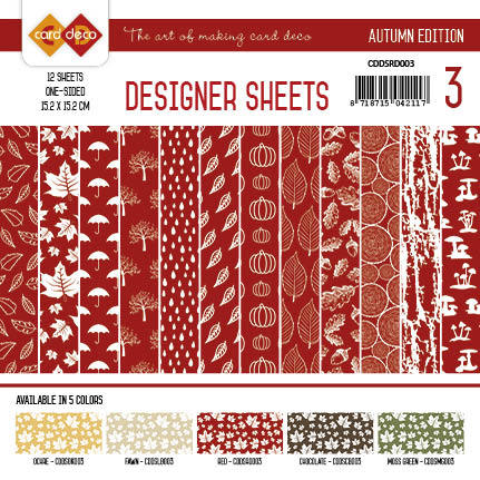 Yvonne Creations - Designer Sheets - Autumn Colors-Rood