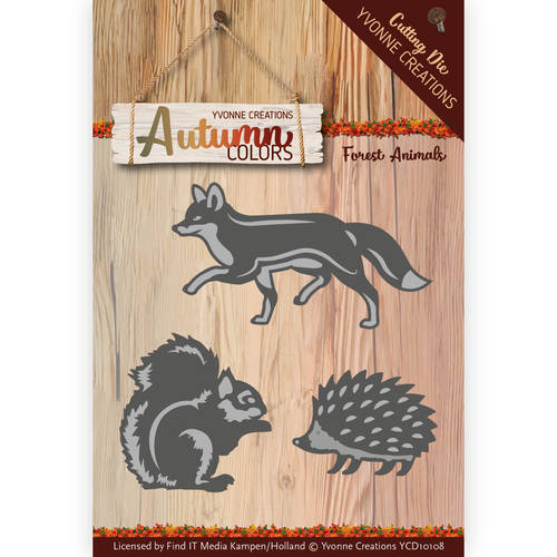 Yvonne Creations - Die - Autumn Colors- Forest Animals
