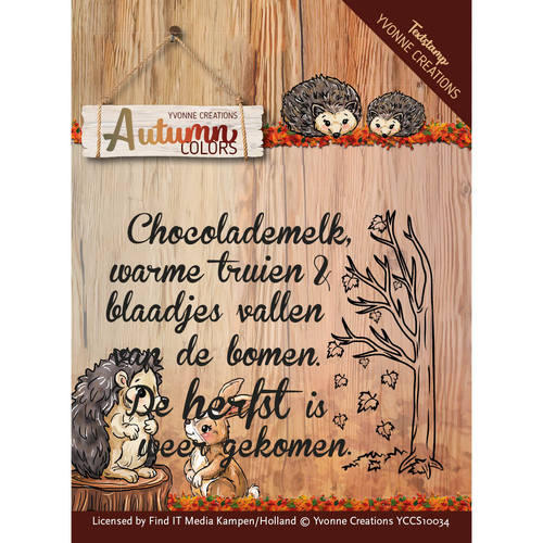 Yvonne Creations - Clearstamp - Autumn Colors - Text