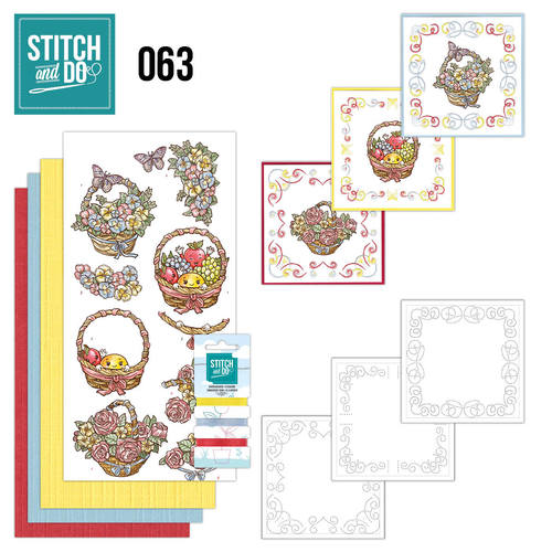 Card Deco - Stitch and Do - Borduurset 63 - Get Well soon