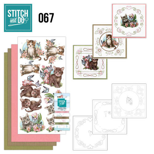Card Deco - Stitch and Do - Borduurset 67 - Cats