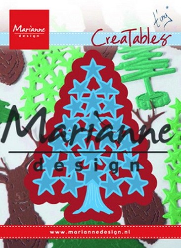 Marianne Design - Die - Creatables - Tiny`s Christmas Tree with Stars