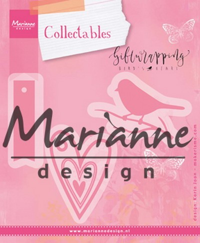 Marianne Design - Die - Collectables - Karin`s Birds Hearts and Tag