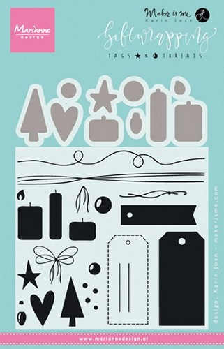 Marianne Design - Clear Stamp - Tags and Threads